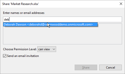 Share documents with other users