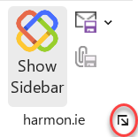 Open harmon.ie settings