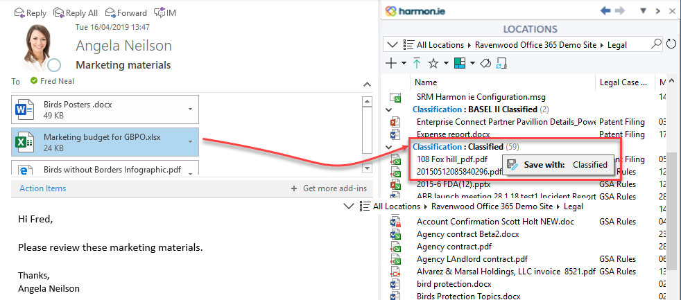 Upload to a grouped SharePoint location