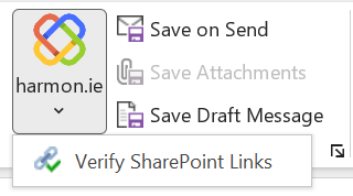 Verify that recipients have access to attached SharePoint links.