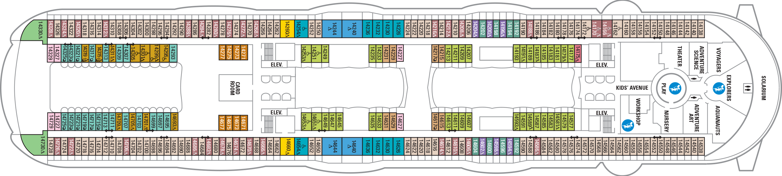 deck plans harmony of the seas