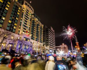 Picture downtown Harrisburg on New Years eve