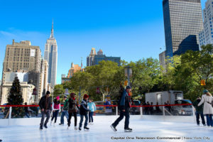 Ice Skating Rink in the City