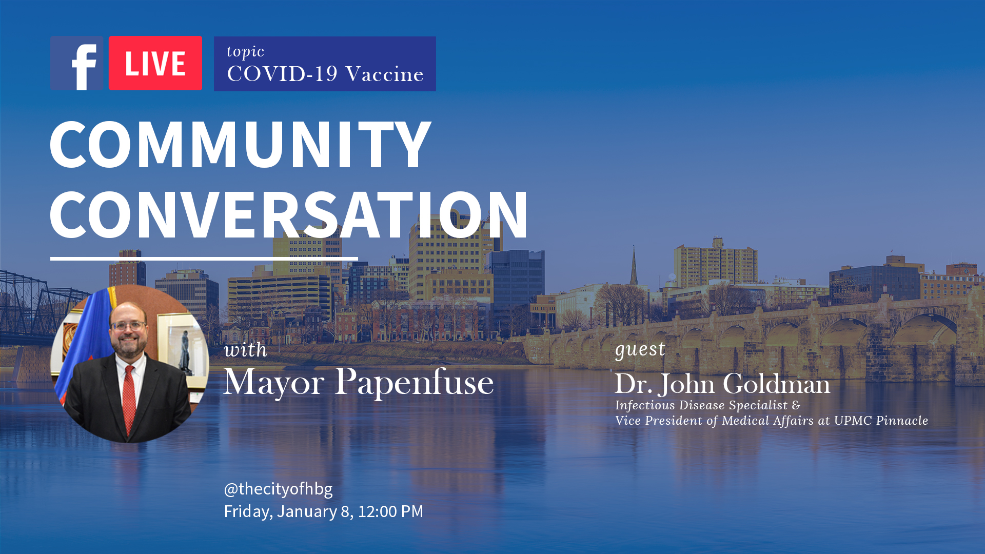 Mayor Papenfuse to Lead Live Discussion on COVID-19 Vaccine