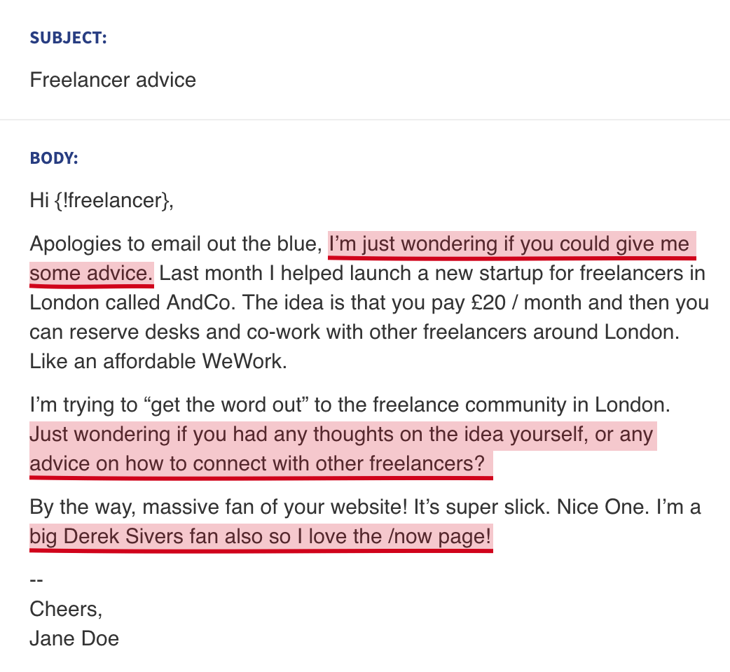 AndCo Cold Email