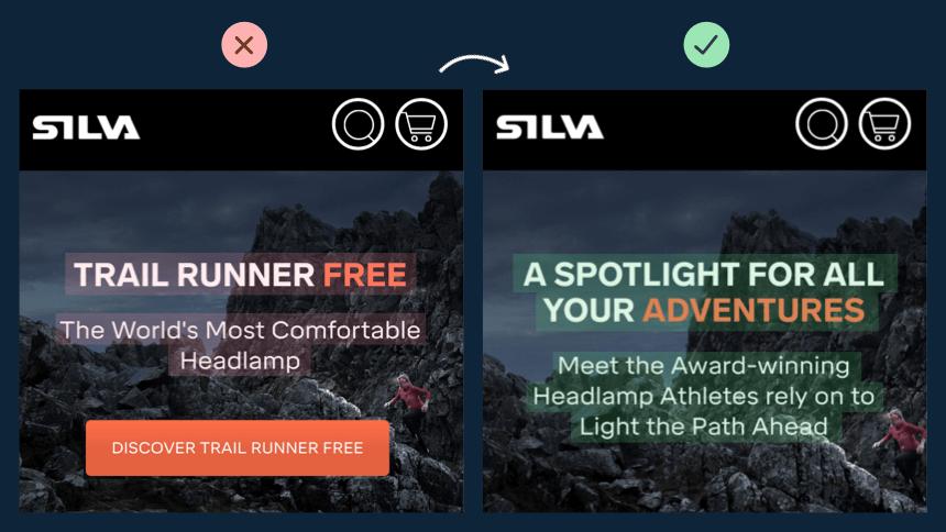 Silva landing page