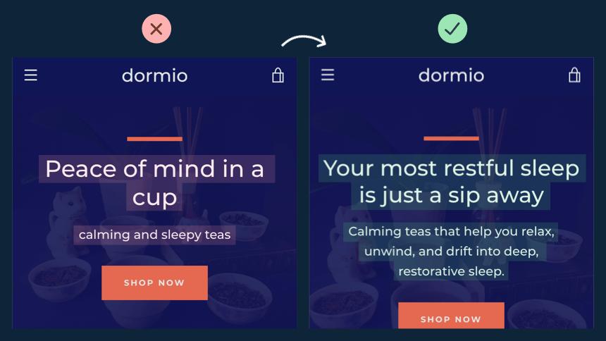 Dormio landing page