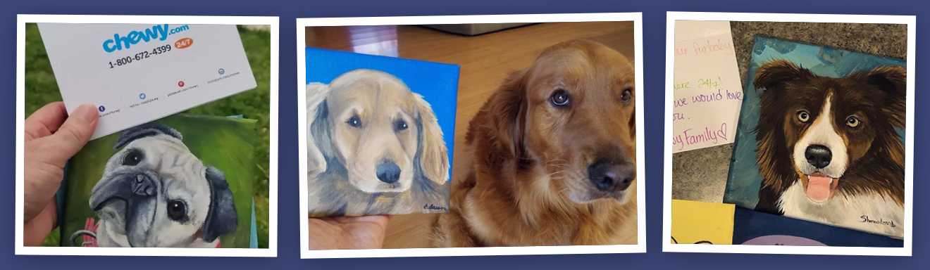 Chewy pet paintings portraits