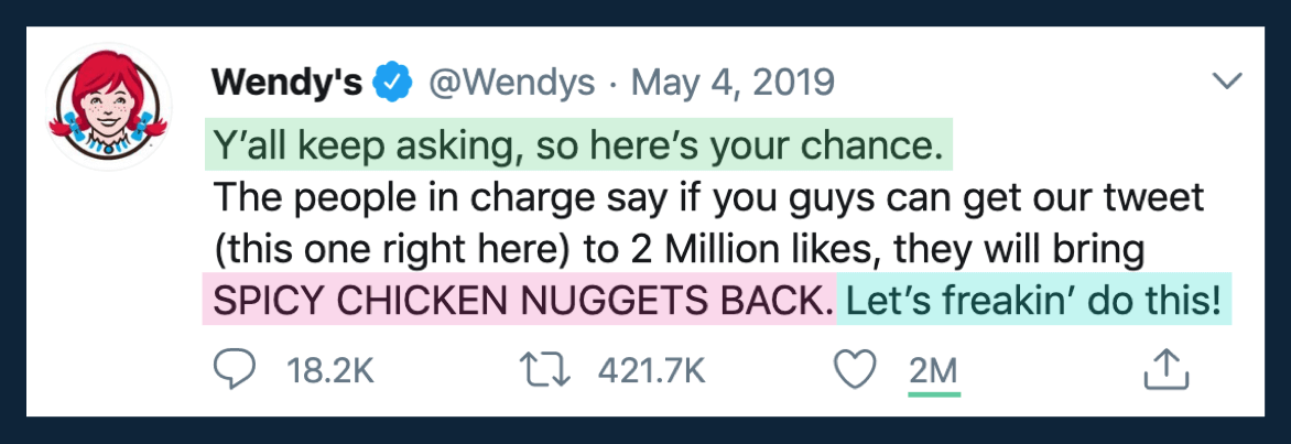 Wendy's Twitter copywriting