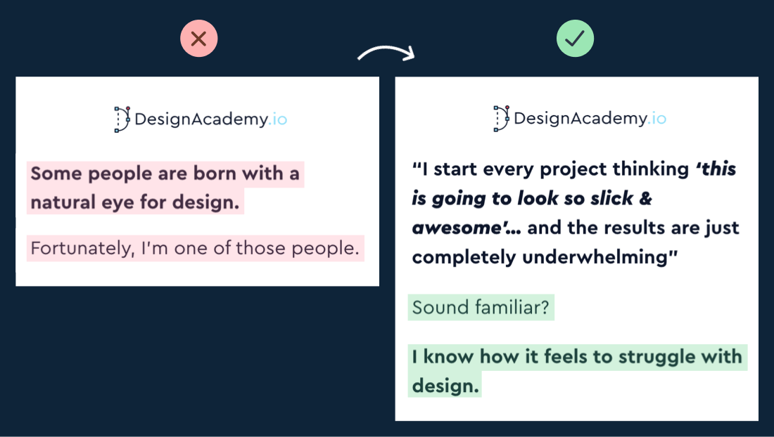 Design Academy copywriting