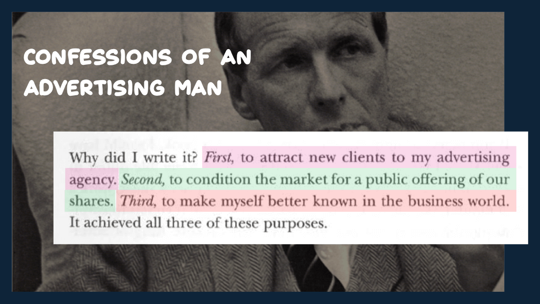 Ogilvy content marketing — Confessions of an Advertising Man
