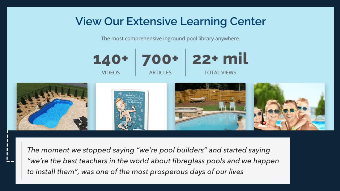 River Pools content marketing