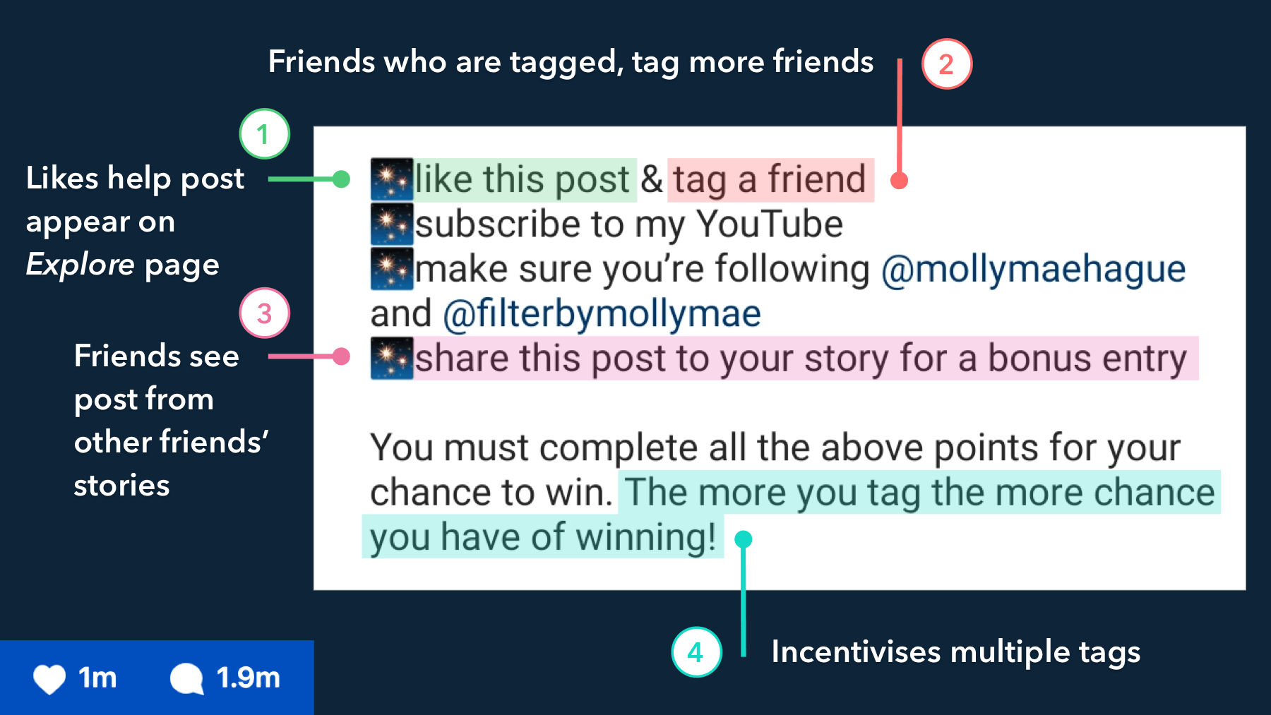 Molly-Mae's Instagram giveaway case study
