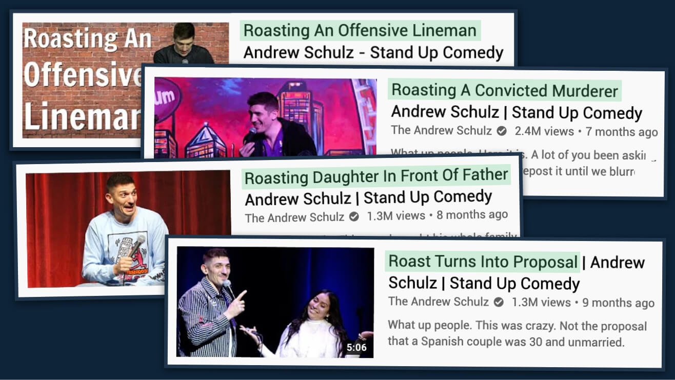 Andrew Schulz comedy roasts