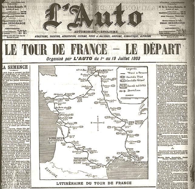 L'Auto announces The Tour de France 1903