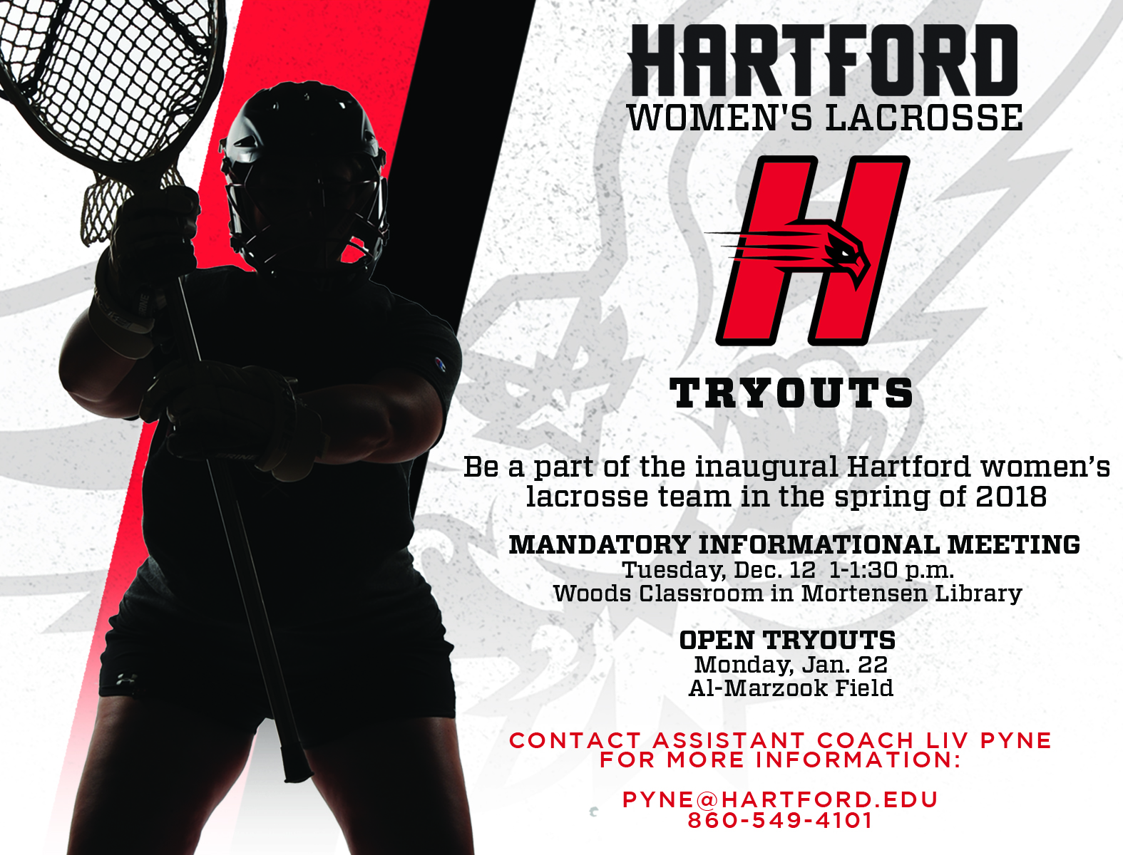 Hartford Hawks Athletics - Women's Lacrosse to Hold Open Tryout for