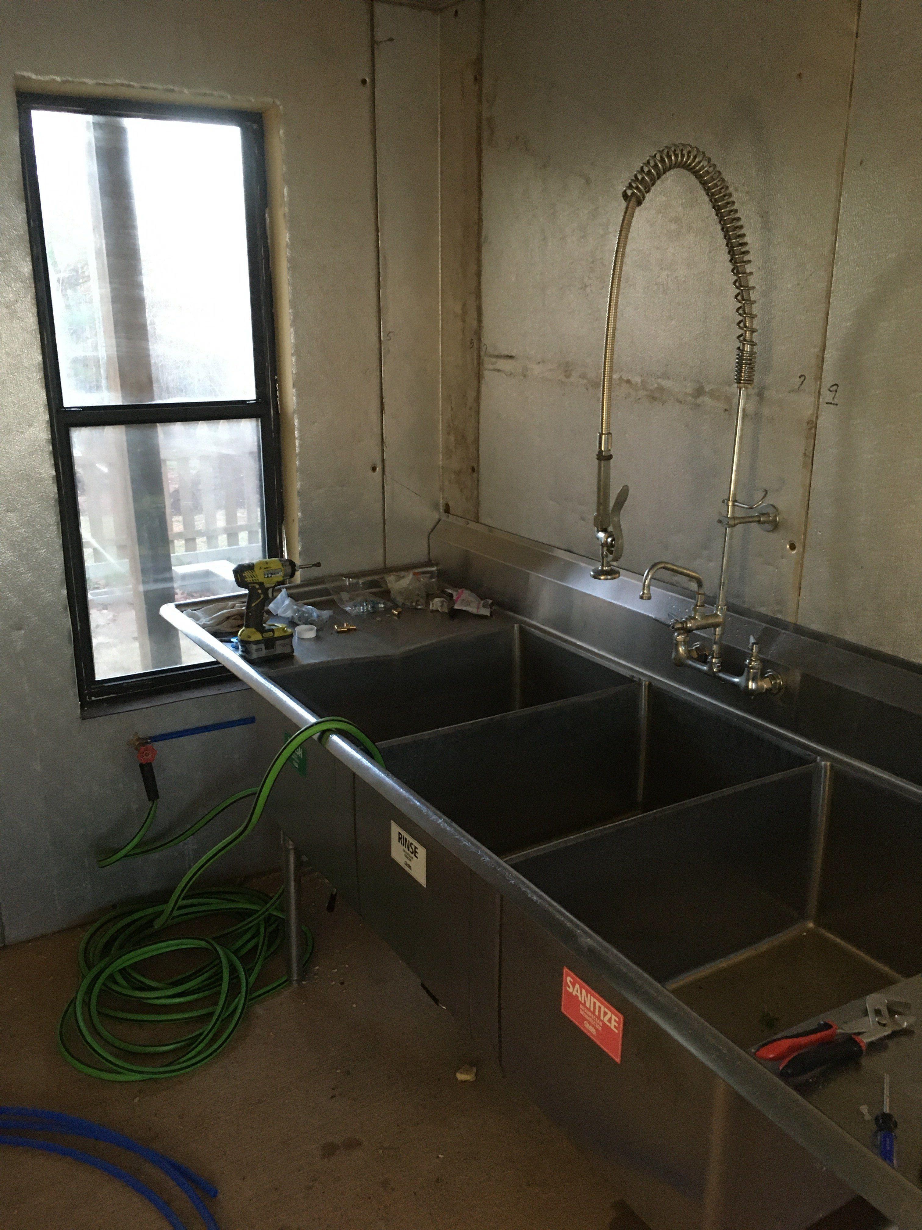 Winter Progress! Building a wash room.