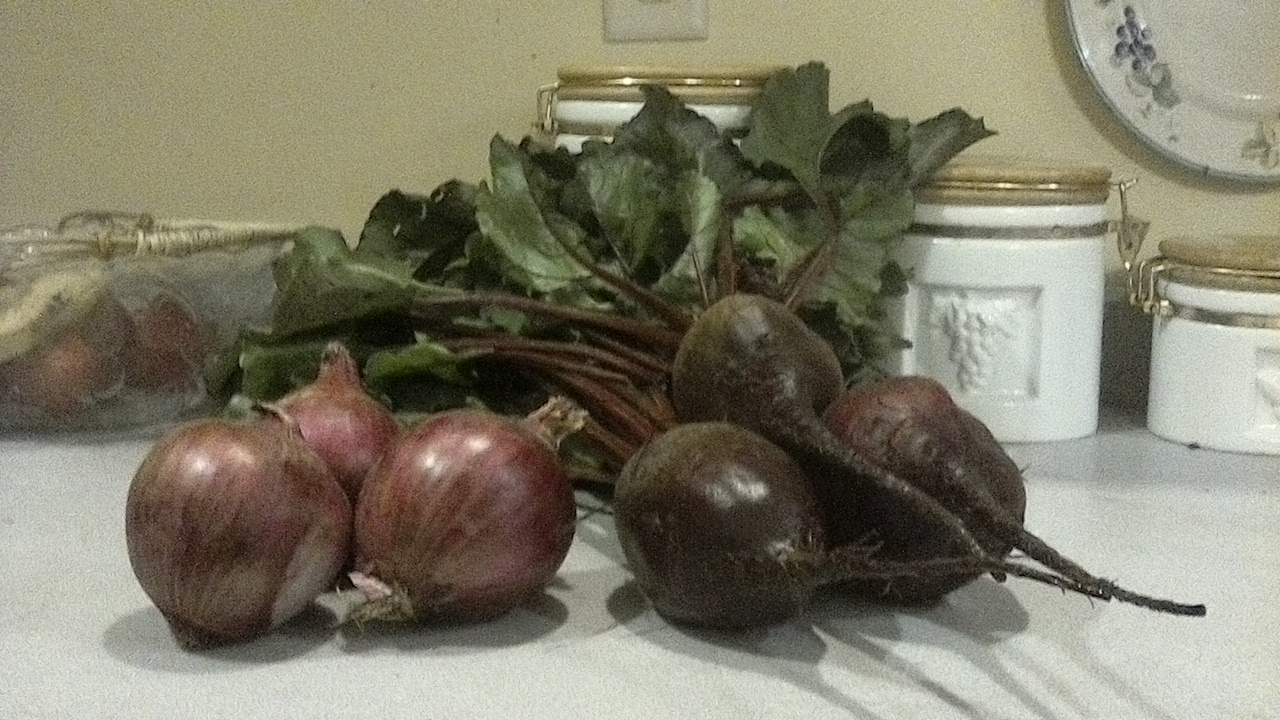 This Weeks Special is Ace Red Beets and Red Onions!