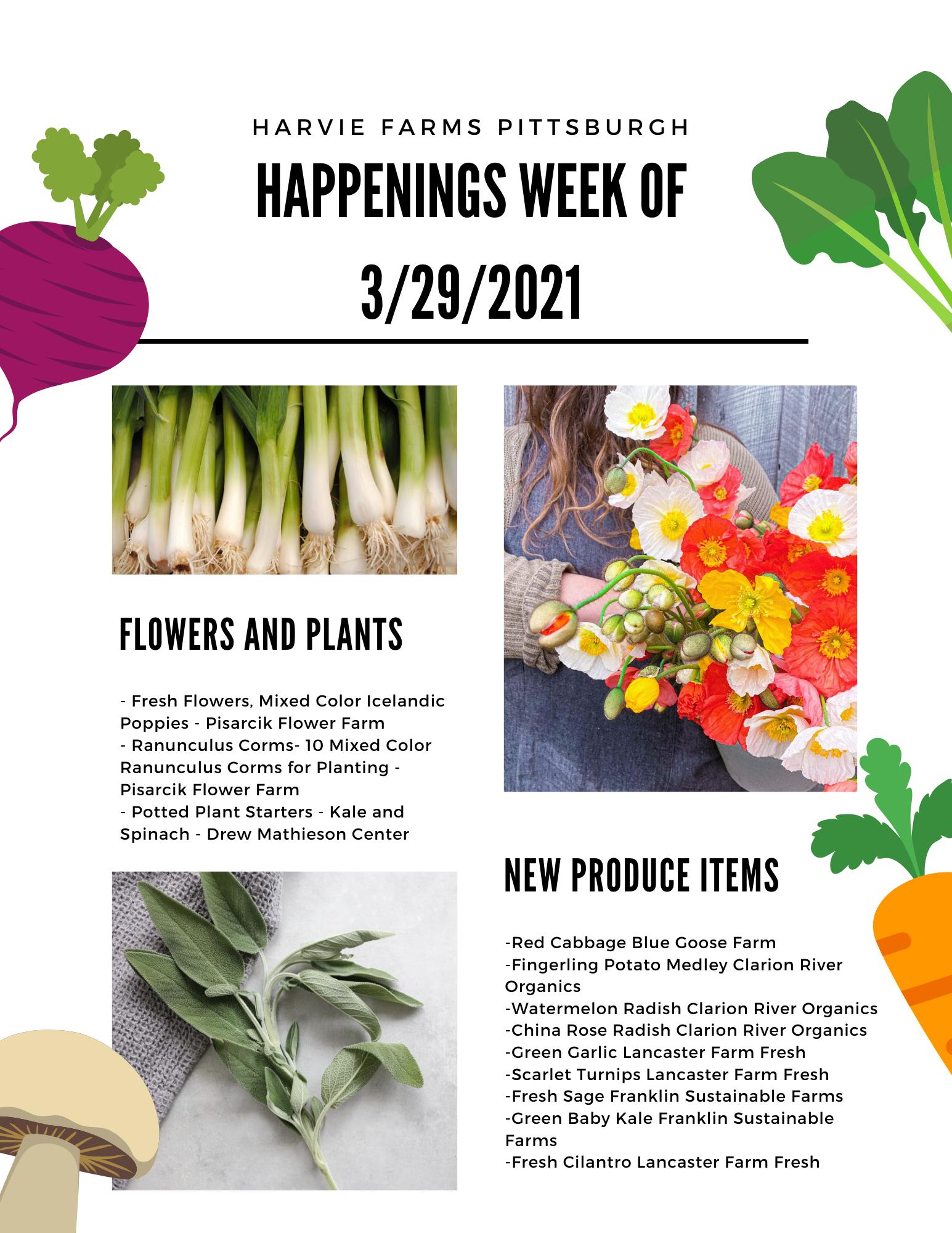 Harvie Farms Pittsburgh Week of 3/29/2021