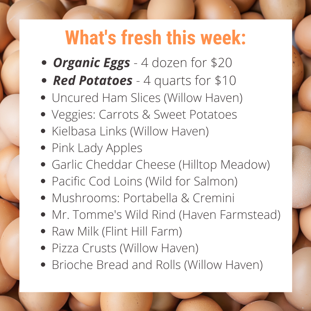 SAVE BIG this week...Specials on Potatoes and Eggs + order in time for Easter delivery