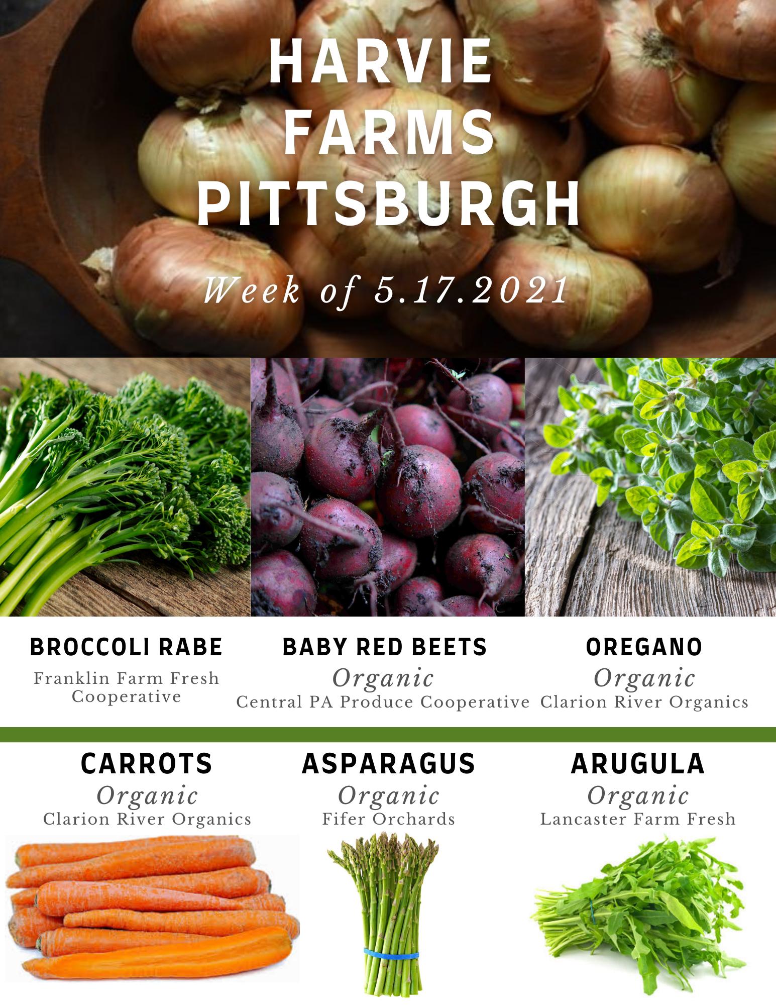 Harvie Farms Pittsburgh Week of 5/17/2021
