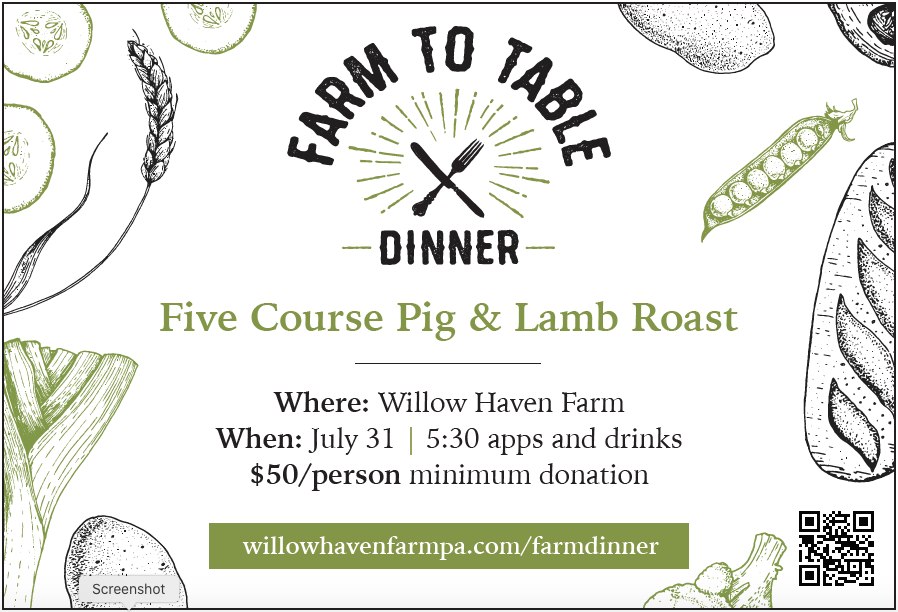 Reserve your Tickets for Farm to Table Dinner on the Farm on July 31