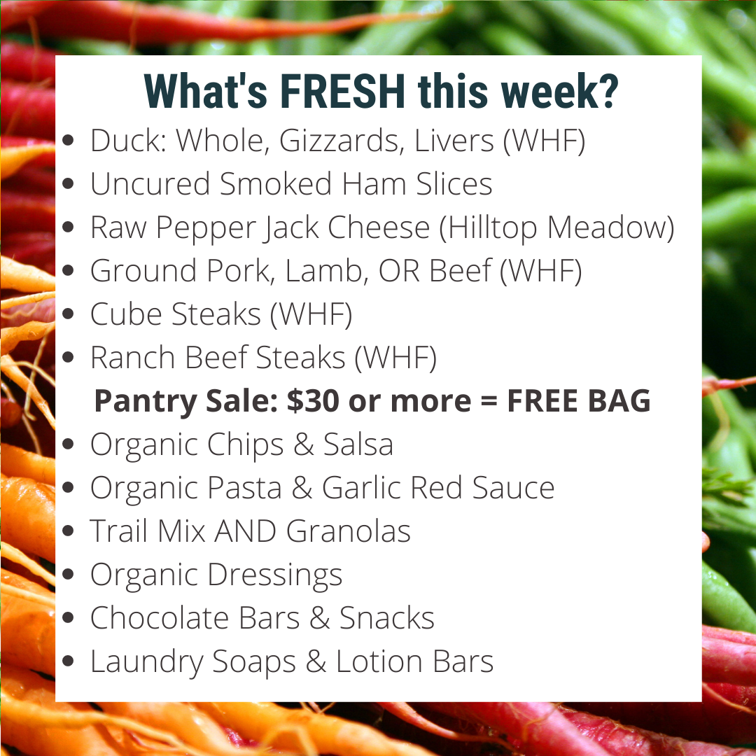 Special Sale: Order $30 of Pantry items, Get a FREE Willow Haven Canvas Bag