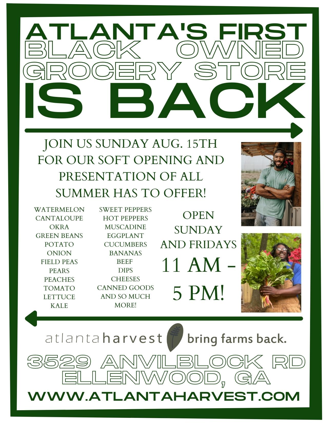 Soft Opening Sunday Aug 15th!!