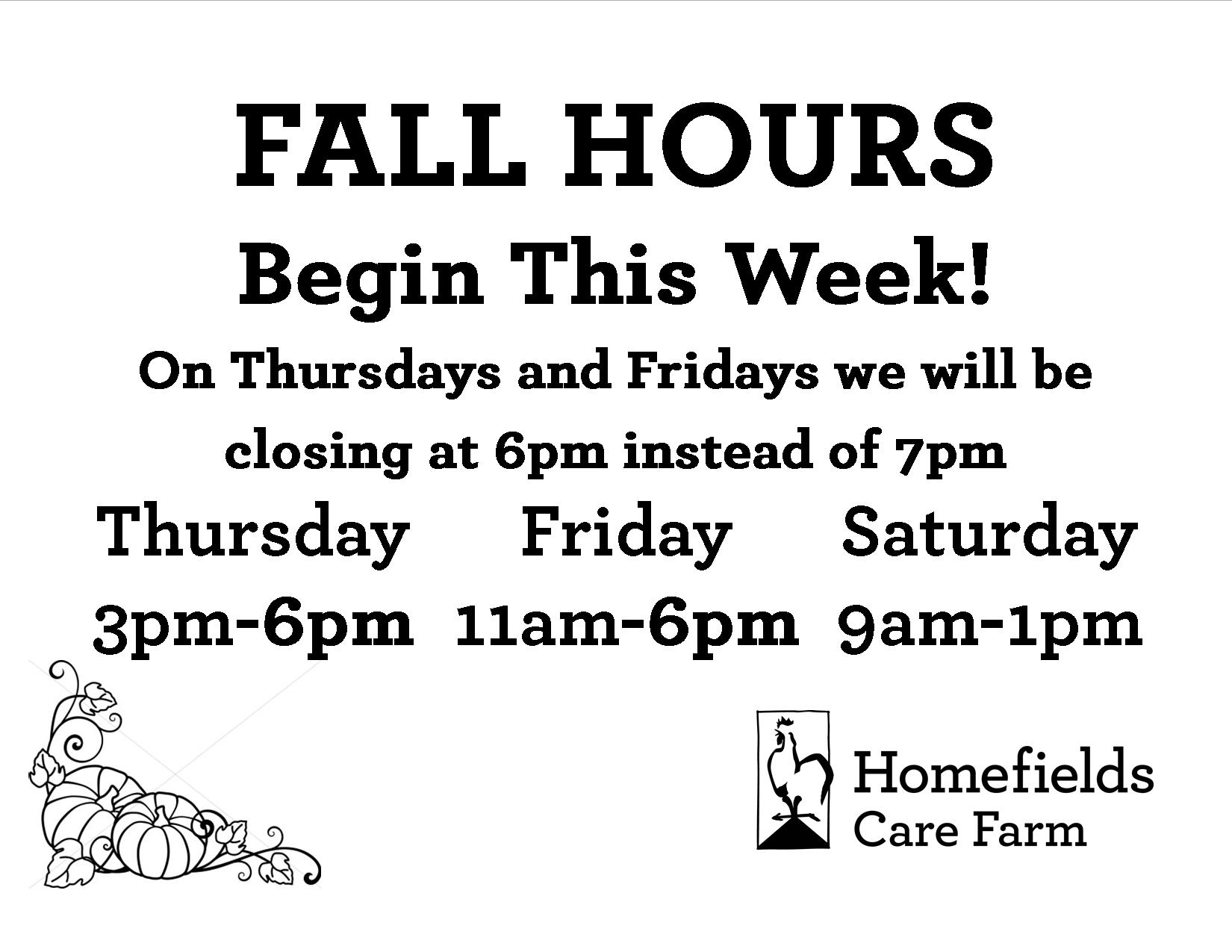 Farm Happenings for week of October 11th