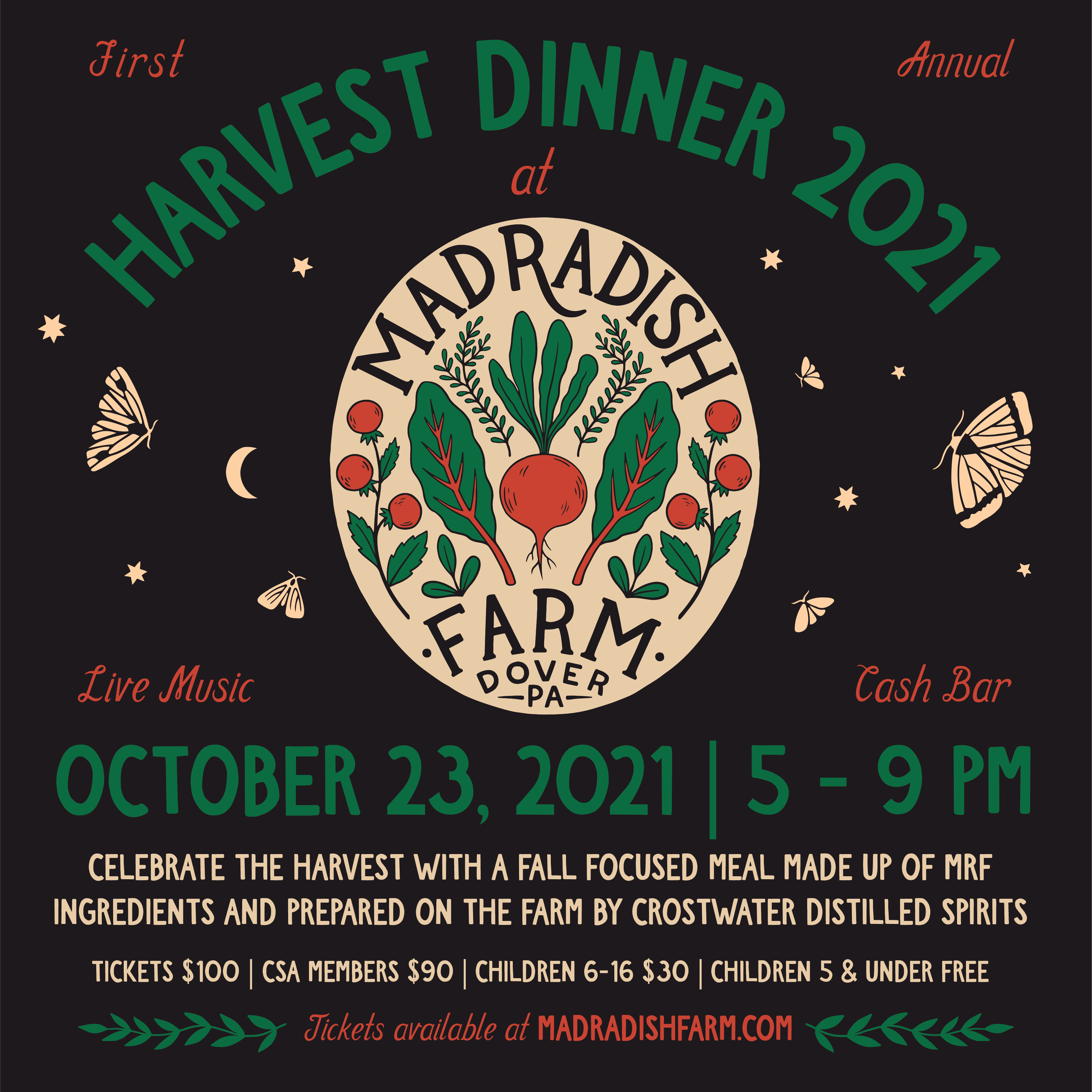 Last Call for Harvest Dinner Tickets and Reserve your Thanksgiving Turkey now!