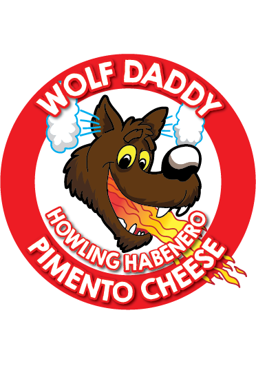 8oz container of Howling Habanero Wolf Daddy Pimento Cheese