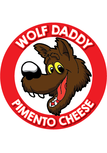8oz container of Original Wolf Daddy Pimento Cheese
