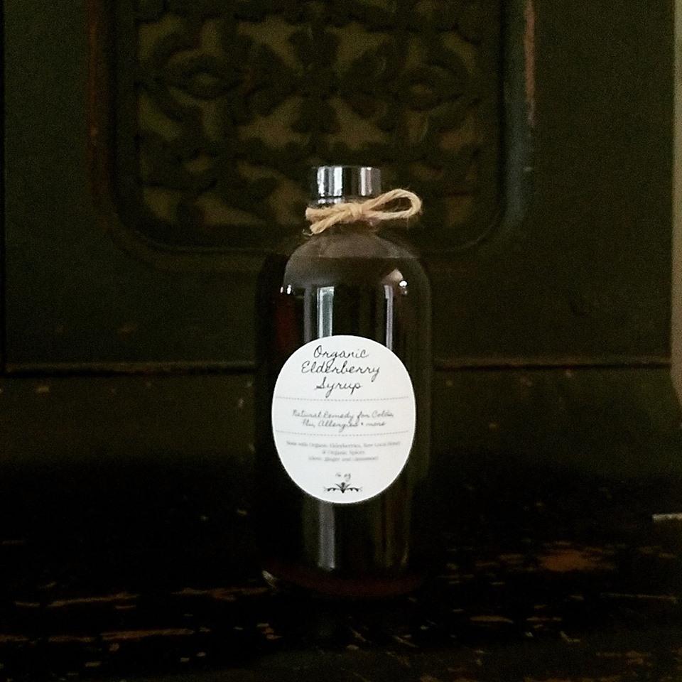 1 8oz bottle of Elderberry syrup