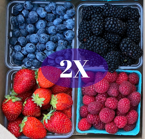 2020 Summer Fruit Share: Double Summer Fruit Share (8 Units)