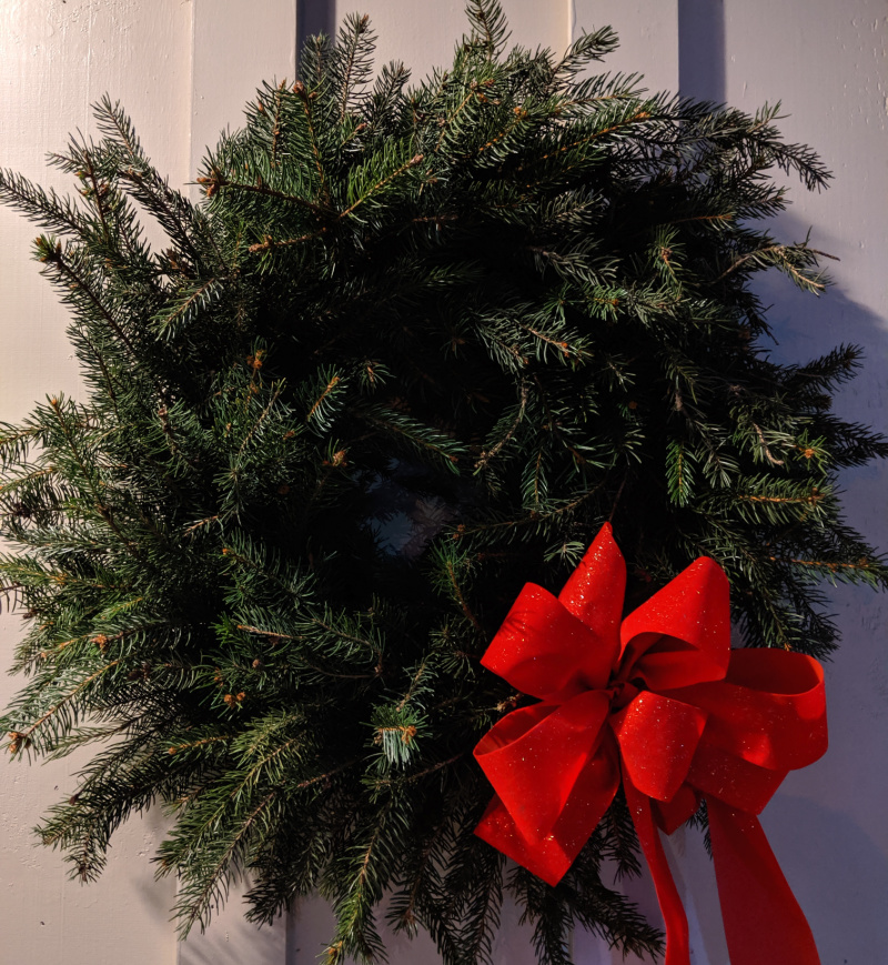 December Spruce Outdoor Wreath