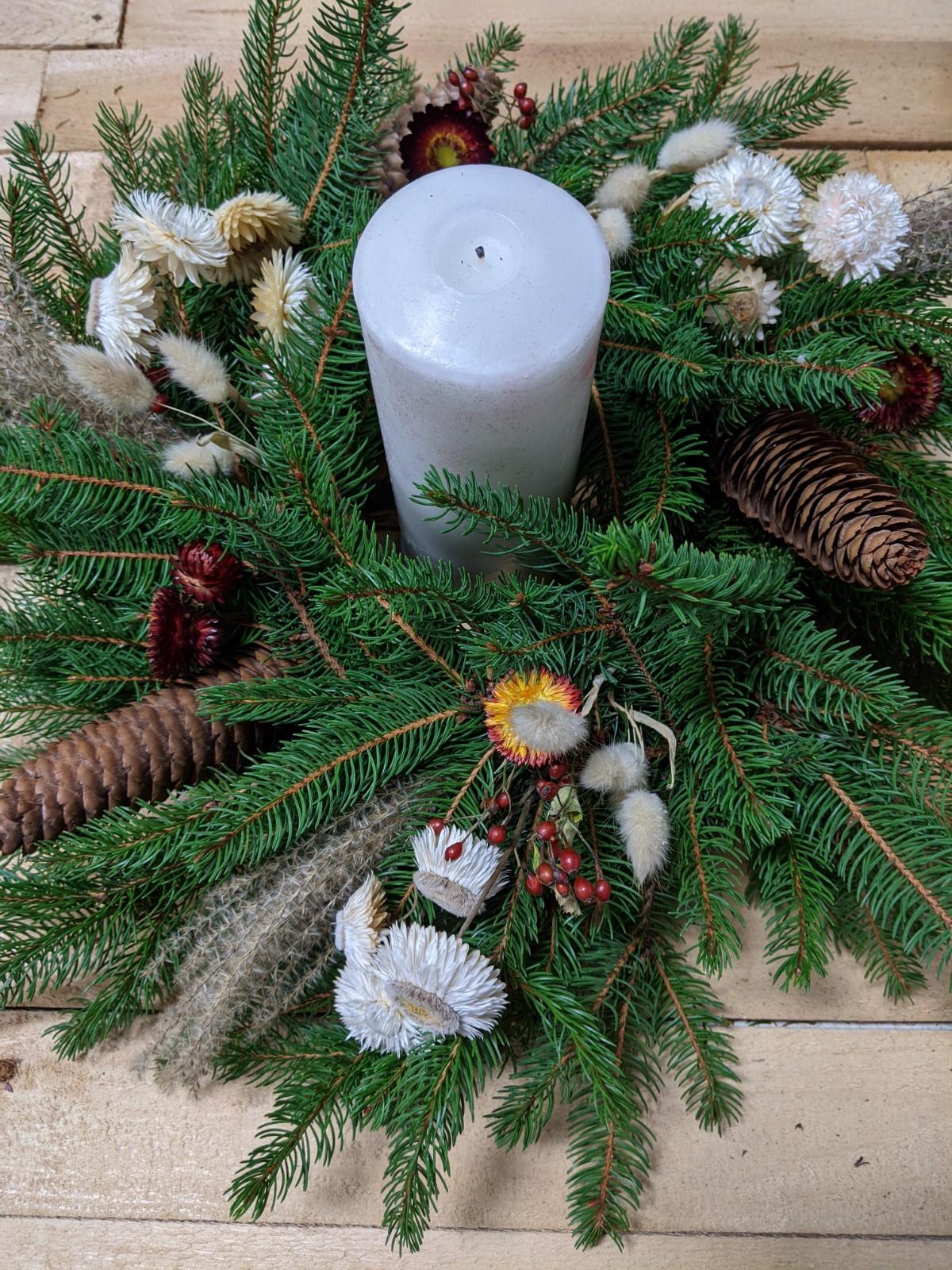 December Evergreen Centerpiece