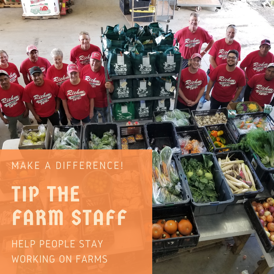 Tip The Farm Staff