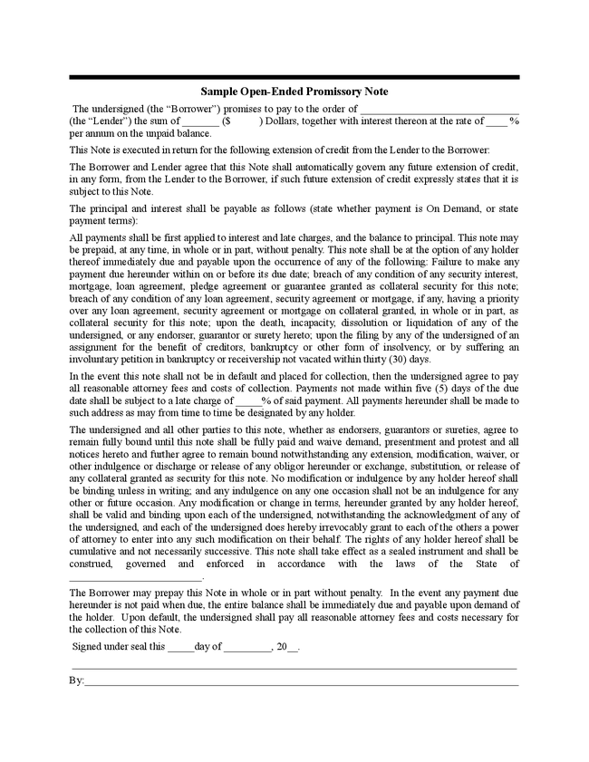 Draft Of Promissory Note Letter of Default on Promissory Note11 – Draft of Promissory Note
