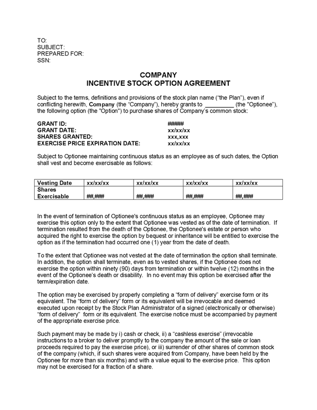 Stock Options Contract Example How Much Earn Forex Trading