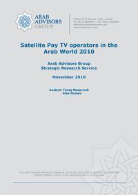 Satellite Pay TV Operators in the Arab World 2010
