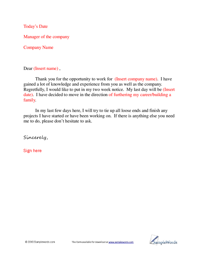 basic letter of resignation sample hashdoc click for details basic ...