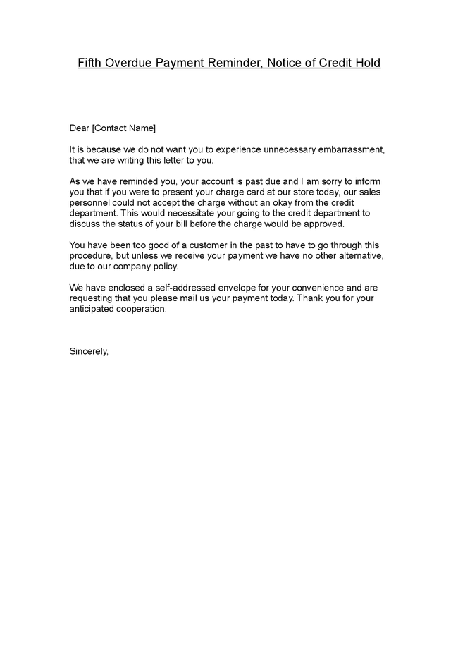 Late Rent Payment Notice Letter