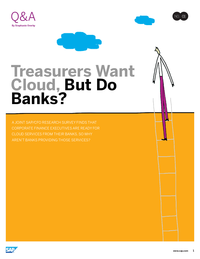 Treasurers Want Cloud, But Do Banks?