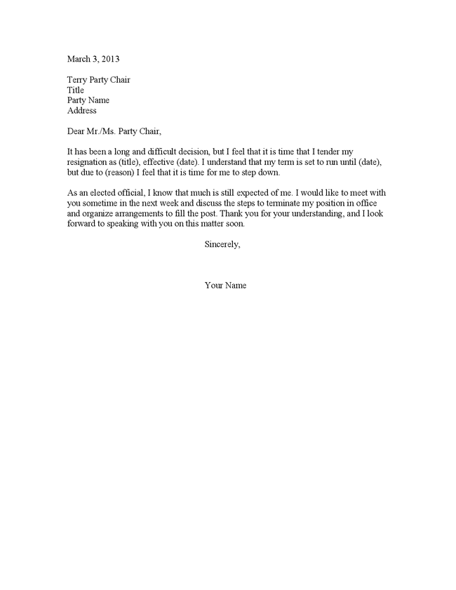 resignation letter sample doc sample resignation letter to