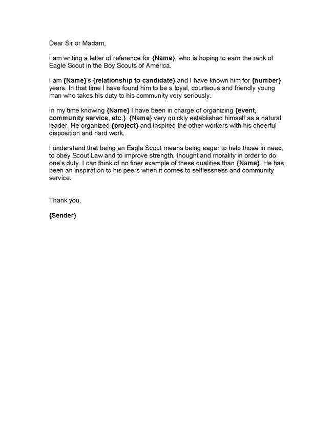 12+ sample eagle scout recommendation letter templates pdf, doc.