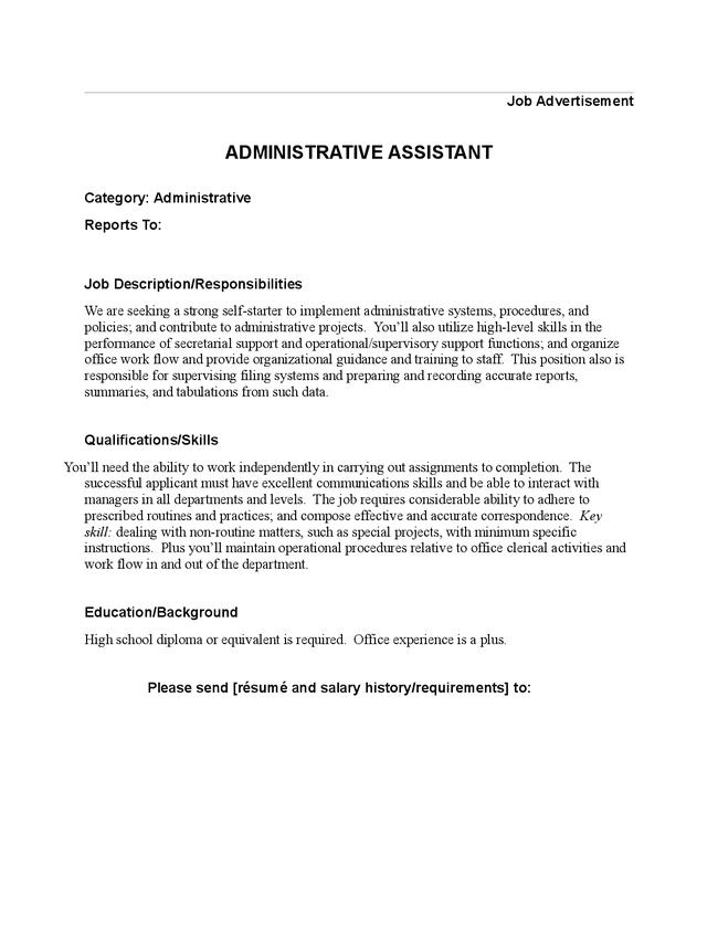 travel assistant job description