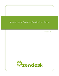 Managing the Customer Service Revolution