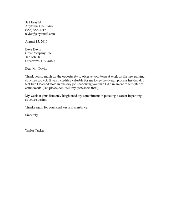 Thank You Letter For Job Offer Crna Cover Letter 6 Thank You Letter