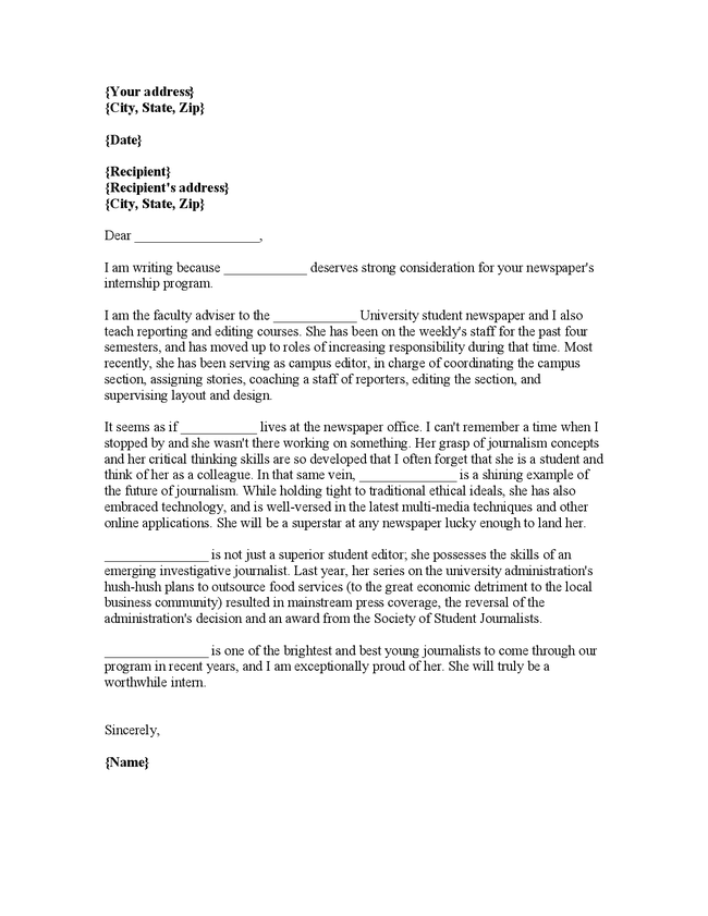 Reference letter format for internship gallery letter format recommendation letter for internship from college choice image letter of recommendation for internship student intoysearch expocarfo expocarfo Images