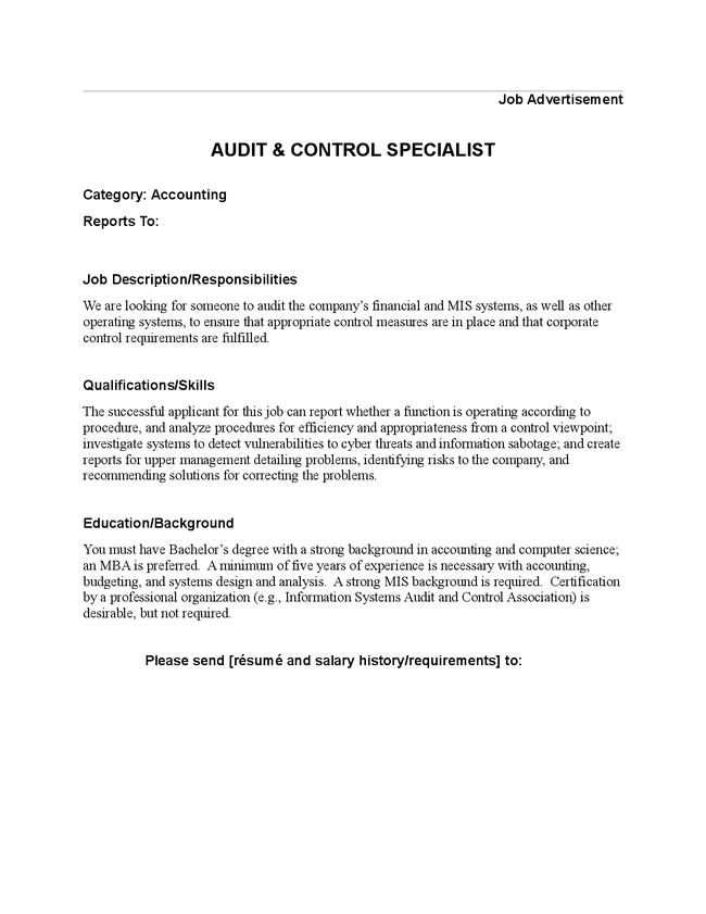 Accounting Job Mba Accounting Job Description